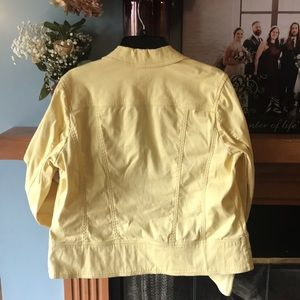 Charter Club Jackets & Coats - Yellow jean jacket